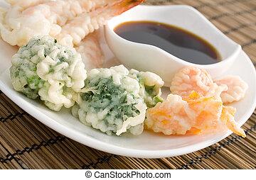 Tempura Vegetables - Lightly battered Japanese tempura...