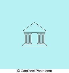 court building vector icon - Court building Simple outline...