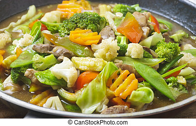 Vegetable Dish - Chopsuey, originally a Chinese dish, but is...