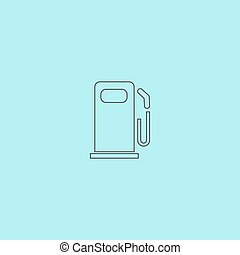 Fuel icon - Fuel Simple outline flat vector icon isolated on...