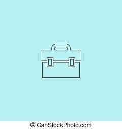 briefcase icon - Briefcase. Simple outline flat vector icon...