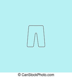 capri flat icon - Capri Simple outline flat vector icon...