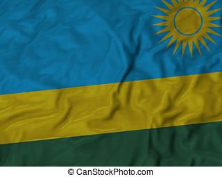 Ruffled flag of - Closeup of ruffled Afghanistan flag,...