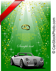 Wedding green background or cover for festival brochure