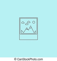Mountain Icon Vector Illustration