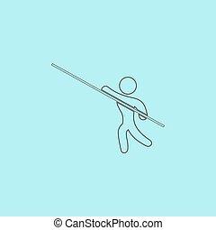 Pole vault athlete
