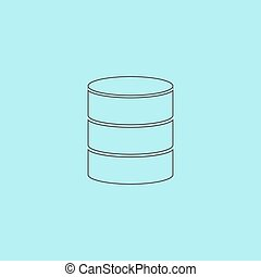 Database icon - Database. Simple outline flat vector icon...