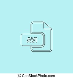 Vector Clipart of MOV video file extension icon vector. - MOV ...