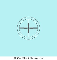 icon of crosshair - Crosshair Simple outline flat vector...