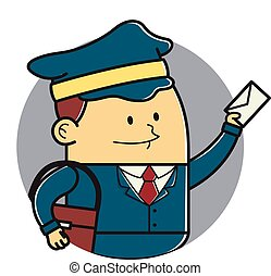 Mail man Stock Illustrations. 8,008 Mail man clip art images and ...