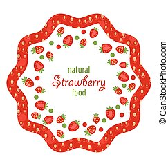 Beautiful Frame Made of Strawberry