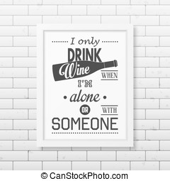 Quote typographical Background in the realistic square white...
