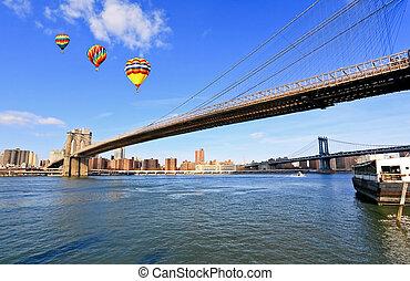 ponte,  brooklyn,  York, Novo, cidade