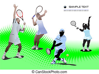 Four Tennis players