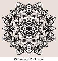 Mandala. Ethnic decorative elements. Hand drawn background....