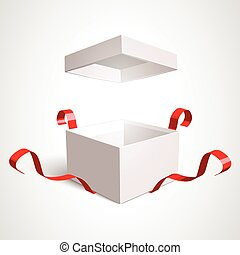 Open Gift Box - Open gift box vector design template....