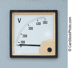 volt meter display on electric control panel
