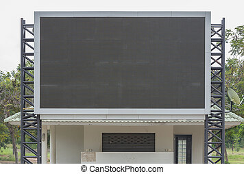blank sign board at public sport grounds