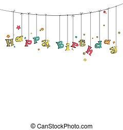Phase Happy Birthday - Phase happy birthday hanging on the...