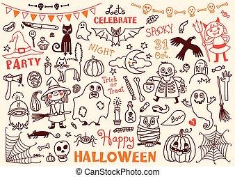 Halloween Vector Set of  Design Elements