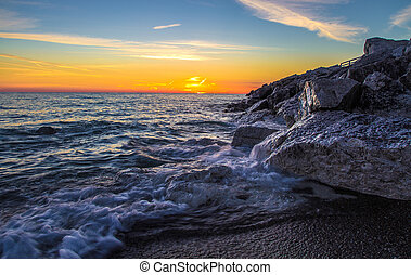 Dawn On The Great Lakes - Sunrise over the shores of Lake...