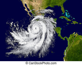 Hurricane Patricia - Illustration of hurricane Patricia over...