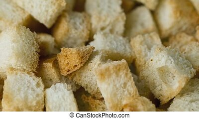 Cracker from white bread - Dried crust of white bread, the...