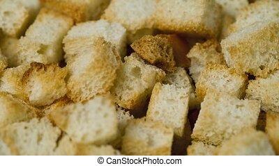 Cracker from white bread