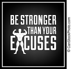 Quote typographical Background - Be stronger than your...