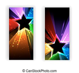banner with rainbow rays