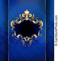 luxury banner - banner decorated with luxurious golden...