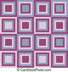Squares seamless pattern lilac colors Vector illustration