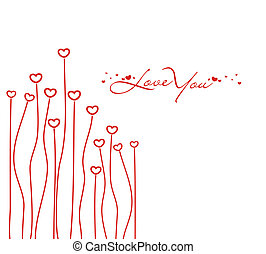 valentines day card - Abstract valentines day card with...