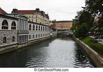 Ljubljanica river  on Ljubljana slo