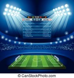 Football 01 Sport Background - Vector Football Stadium Empty...