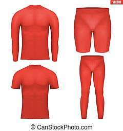 Thermal underwear layer compression set - Red Base layer...