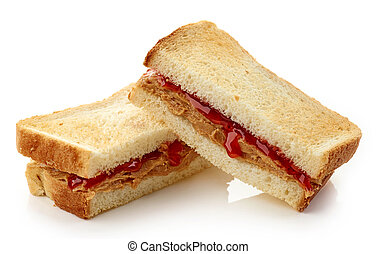 Peanut butter jelly sandwich - Peanut butter and strawberry...