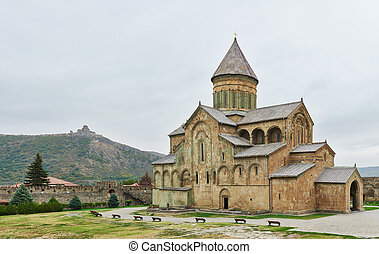 Svetitskhoveli ancient church castle in georgia -...