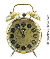 antique golden clock