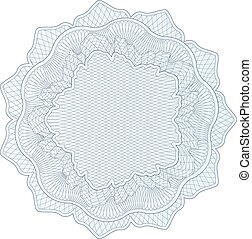 Guilloche pattern, rosette, watermark, - Guilloche pattern...