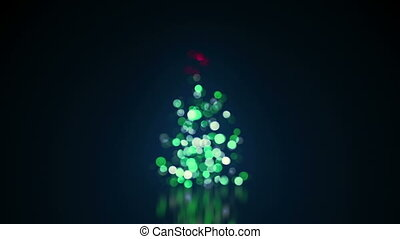 blurred christmas tree lights loop