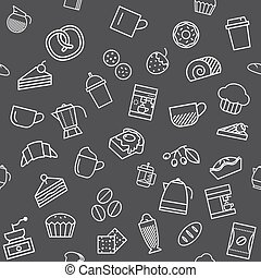 Coffee and bakery, seamless background design