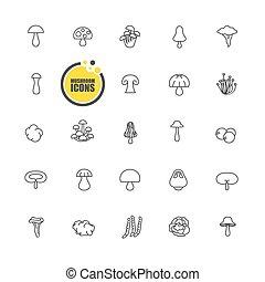 hongos, icono,