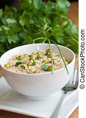Risotto - Vegetable risotto in a bowl