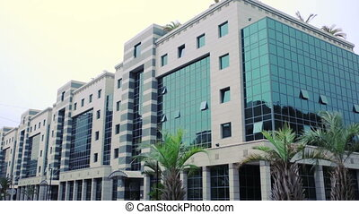 Establishing shot Office building Business building...
