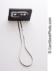 unroll tape cassette - old tape cassette with cover sticker...