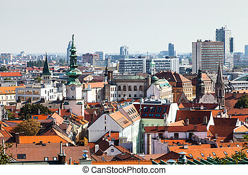 Bratislava town skyline with tower of Michael Gate - travel...