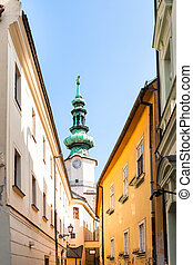 Michael Gate from Bastova street in Bratislava - travel to...