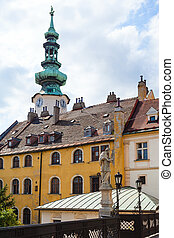 old houses on Michalska street in Bratislava - travel to...