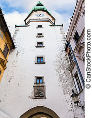 St Michael's tower of Michael gate in Bratislava